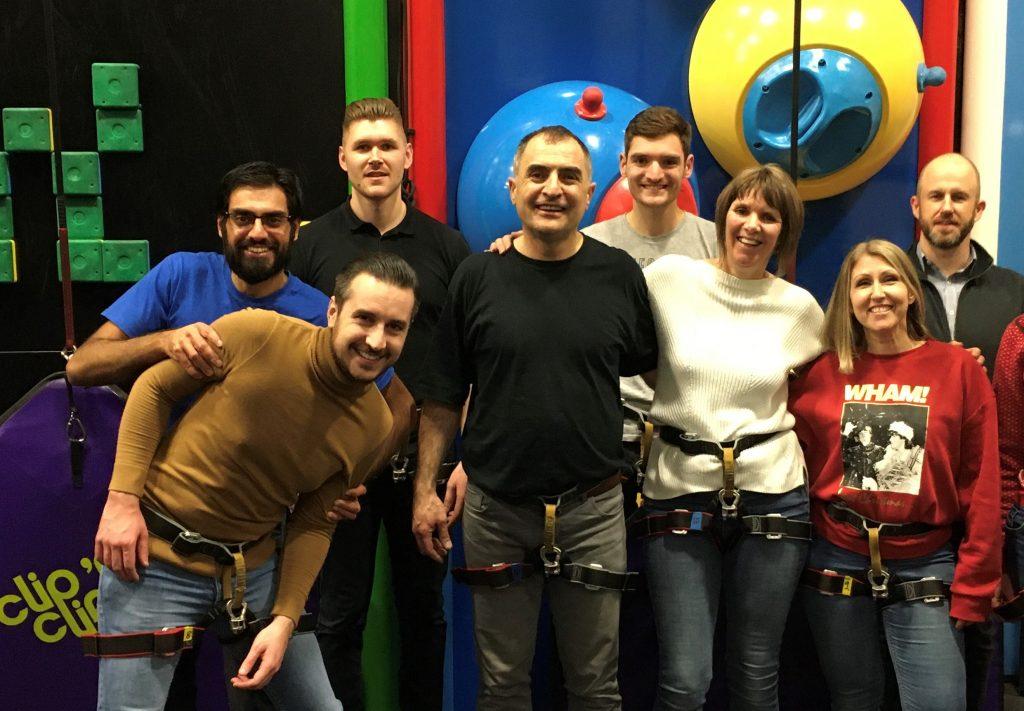 Cambridge Support Team at Clip 'n Climb